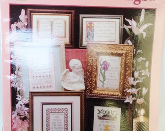 religious cross stitch, cross stitch patterns, cross my heart inc, vintage cross stitch, psalms proverbs
