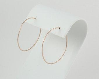 14K gold hoops | Rose gold hoops | Sterling silver hoops | Thin hoop earrings | Simple hoop earrings | Classic gold hoops | Dainty hoops