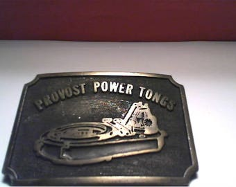 AT DESIGNS, Canada - Men's Brass Belt Buckle - PROVOST Power Tongs - Oil Industry
