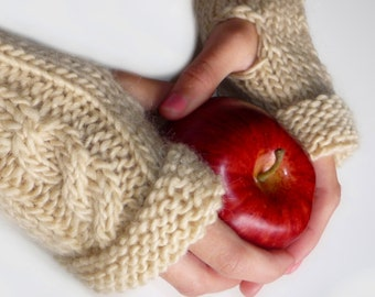 Easy and Quick Knitted Fingerless Gloves PDF Pattern
