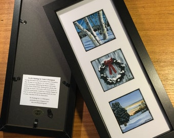 Matted and Framed set of 3 NH prints. Mix and match your favorite 3 images from the selection.