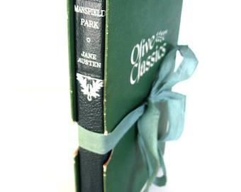 Mansfield Park by JANE AUSTEN Olive Classics Boxed Edition  1953 Jane Austen Wedding, FALL Green Decor