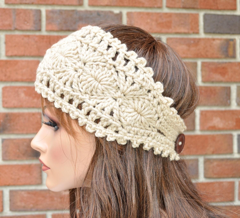Crochet Ear Warmer Handmade Accessory Womens Crochet Headband