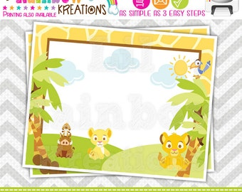 640 Food Labels: King Of The Jungle Candy or Buffet Labels - Instant Downloadable File