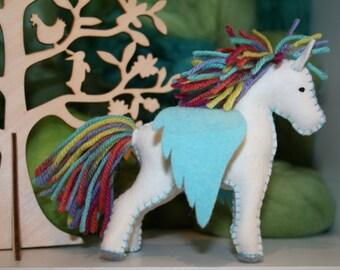 Felt Carnival Pegasus Horse Eco Friendly Ready to Ship