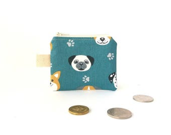 Lunch money pouch, Coin pouch, Cute money pouch, Boy coin purse, Coin zipper pouch, Change pouch, Key ring pouch, Small zipper pouch, Dogs