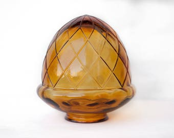 Globe light fixture - globe - shaped tassel - amber Arteza - thick glass - lighting - pendant