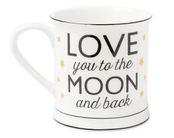 Mug Love with the moon and back