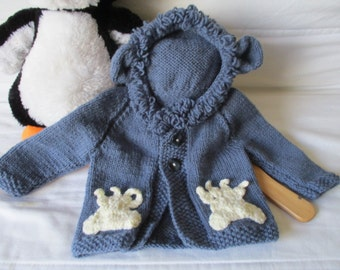 Baby Lion Hoodie, Leo present, unisex knitwear, boy, girl, knitted jacket, big cat hoodie, baby shower gift, knitted top, unisex first coat