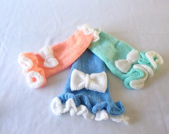 Handmade Hand Knitted Dog Dress Ready Made Available in 3 Colours and 3 Sizes XS/S/M