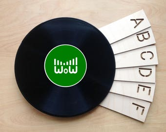 Eco Double Ended, A-Z Vinyl Record Dividers - perfect for your growing record collection - 26 piece set - Laser Cut