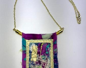 Pastiche Fabric Necklace