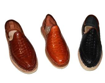 El Huarachero Model 1, Mexican Huaraches authentic leather, vaqueta cowhide, Huaraches Mexicanos, Mexican sandals