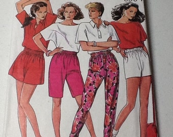 New Look 6334 Shorts Slacks Pattern.  uncut.  Elastic waist Size 8-18