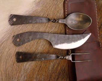Medieval cutlery set, handgeschmiedetWMK57 #