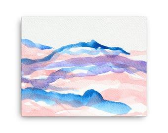 Sunrise over Chimayo New Mexico (canvas print)