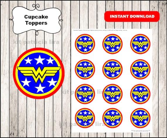 Wonder Woman logo toppers instant download Wonder Woman
