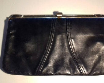 Vintage Matchmakers by Lotus Black Leather Clutch