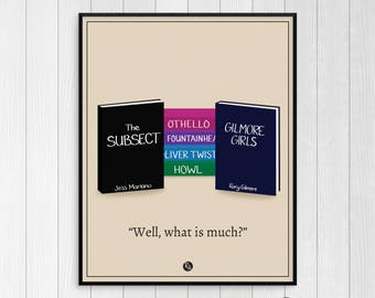 Gilmore Girls - A Year in the Life print - Printable Art - Gilmore Girls gift - Jess & Rory - Rory Gilmore - Jess Mariano - Instant download