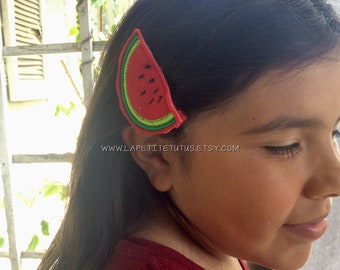 watermelon feltie clips, watermelon hair feltie, watermelon clip, hair clip supply, hair bow, hair accessories, hair bow supply