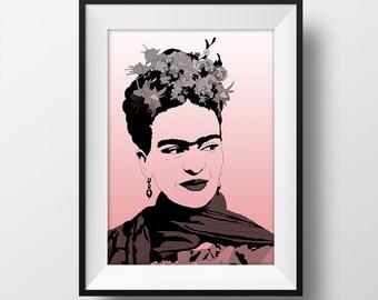 SUPER SALE*** Frida Poster - Frida Kahlo - Graphic Illustration A4 - Art Print