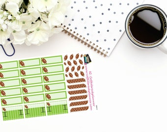 Planner Stickers|Football Stickers|Football Game Stickers|Football Reminder Stickers|For use in various planners and journals| S008-HV