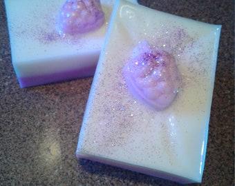 2 shea butter black raspberry vanilla soap bars/ natural soap/soap bars/soap gifts