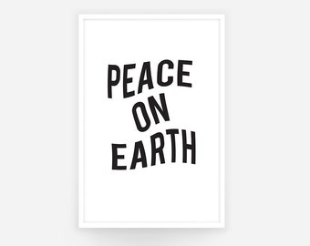 Peace on Earth - Wavy Voice Poster