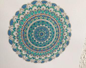 Mandala ' Icy Blue '