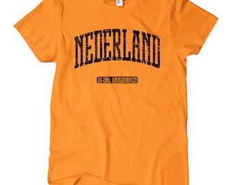 Vrouwen Nederland Tee - S M L XL 2 x-Holland - Nederland T-shirt - 4 kleuren