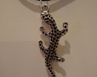 Salamander pendant necklace