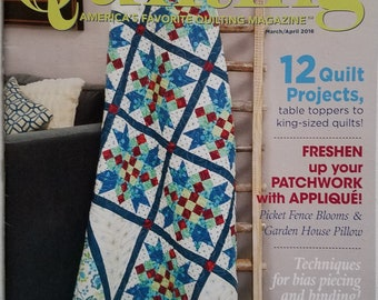 Love of Quilting Instruction Book - March/April 2016