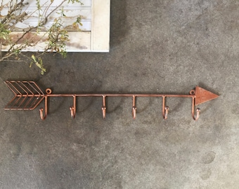 Metal Arrow Wall Hook, Wall Decor, Wall Hook, Boho Decor, Tribal Decor, Key Hook, Towel Holder