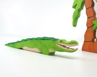Wooden Crocodile Toy, Africa Animals, alligator toy, Waldorf Crocodile toy, wooden  Alligator, Africa animals toys, alligator figurine