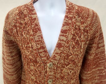Vintage SEARS 100% Acrylic Sweater Cardigan Large