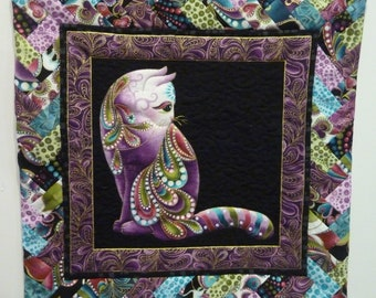 Quilted Wall Hanging - Cat-i-tude 2 from Ann Lauer Collection