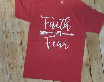 Faith over fear,  Christian gifts, Christian shirts, Jesus shirt, Faith over fear tee,women's fashion, gifts for her, women's teens,