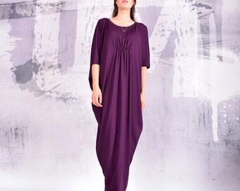 Dress, Purple maxi dress, eggplant dress, long dress, loose dress, oversize dress, maternity dress, bohemian dress, urbanmood, um-189-vl