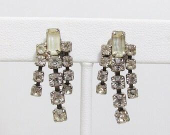 Vintage Earrings: Rhinestone Fringe