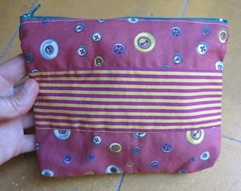 "Clutch ""Zoe"" cotton multicolored patchwork."