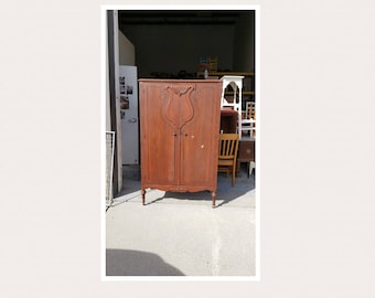 PICK UP ONLY,Vintage Wardrobe, Closet, Armoire, Painting Inc., Farmhouse