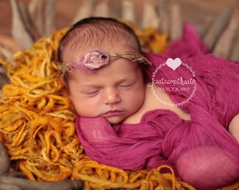 RTS, Newborn Cheesecloth, Newborn Girl Photo Prop, Maroon Newborn Wrap, Newborn Photo Prop, Maroon Cheesecloth Wrap, Maroon Baby Wrap
