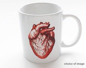 Anatomy Coffee Mug coworker gift human body physician assistant science medical school cardiology graduation him men her geek nerd dork goth