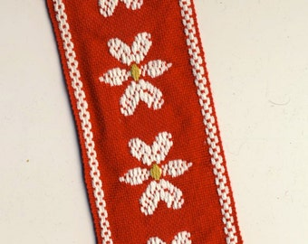 Red Woven Trim from the 1960s