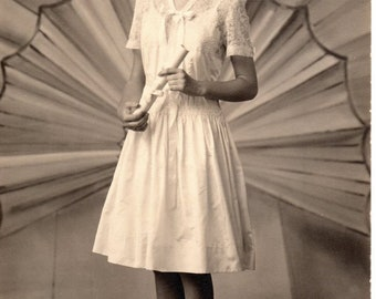 Vintage Antique Photograph of a Young Lady