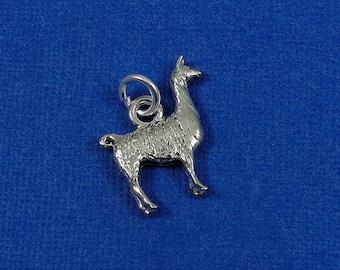 Llama Charm, Llama Pendant, Silver Plated Llama Charm for Necklace or Bracelet