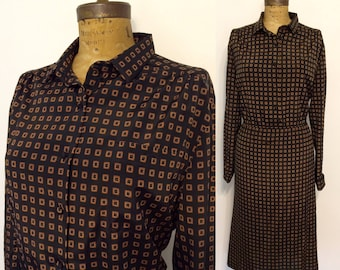 Lanvin vintage silk dress late 60's early 70's size M/L