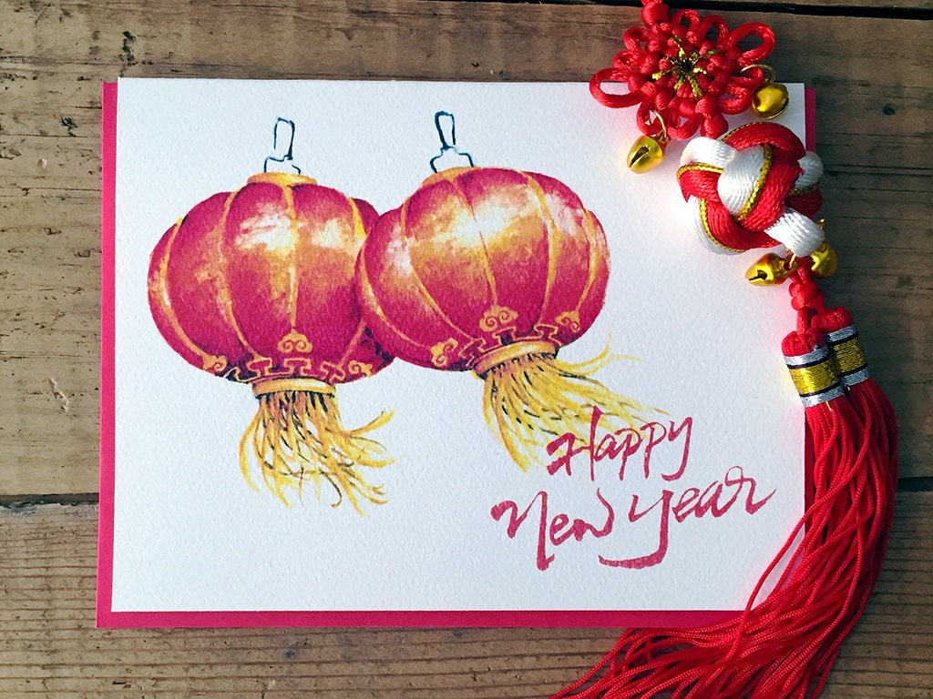 Chinese new year card chinese lantern card cny card lunar zoom m4hsunfo
