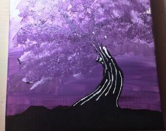 Purple blossom tree