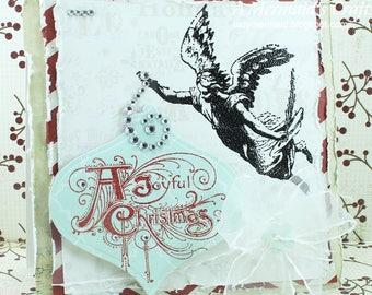 A Joyful Christmas Angel Greeting Card